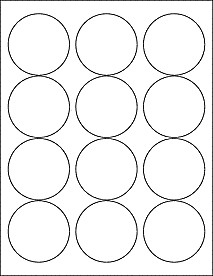 """2 Inch Round Label Template Download Label Templates Ol350 2 5"""" Circle Labels"""