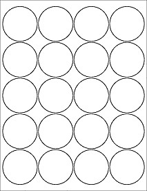 """2 Inch Round Label Template Download Label Templates Ol5375 2"""" Circle Labels"""
