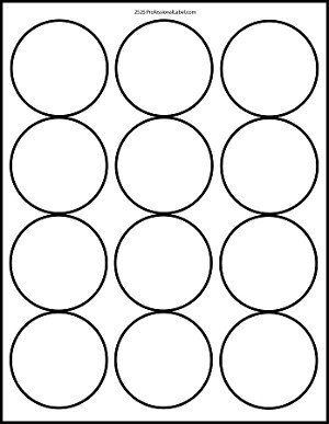2 Inch Round Label Template Matte White Printable Sticker Labels 100 Sheets 2 5 Inch