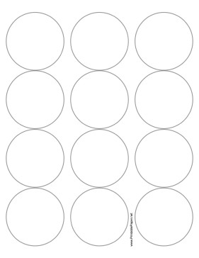 2 Inch Round Label Template Printable Round Label 2 5 Inches Diameter