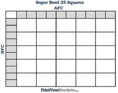 25 Square Football Pool 1000 Images About Super Bowl Party Games On Pinterest