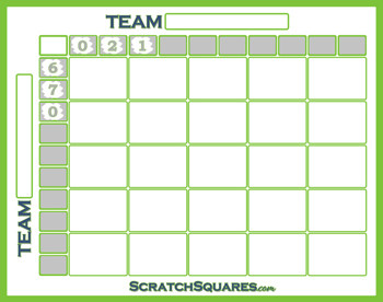 25 Square Football Pool Football 25 Square Pool Scratch F Cards