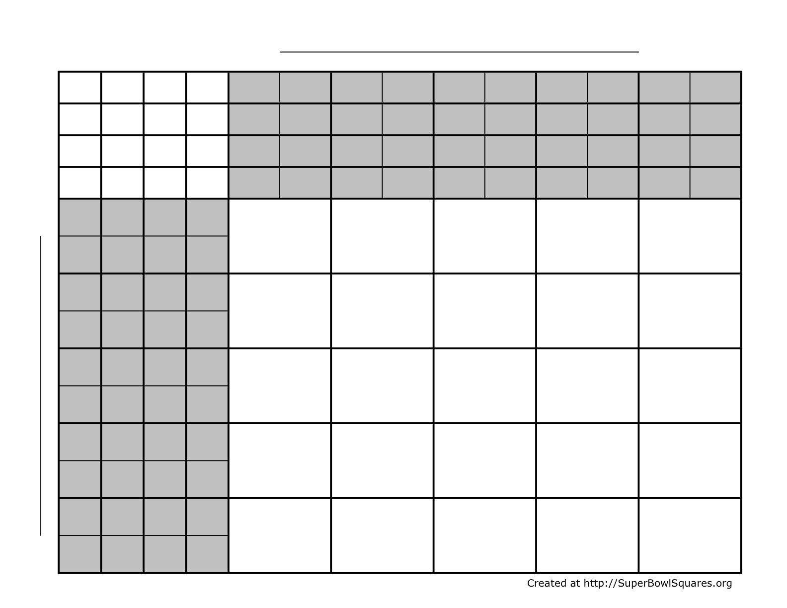 25 Square Football Pool Printable Football Squares Sheets