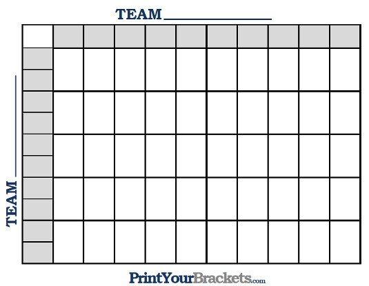 25 Square Football Pool Printable Nfl Football 50 Square Grid Fice Pool