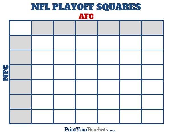 25 Square Football Pool Printable Nfl Playoff Squares Football Fice Pool
