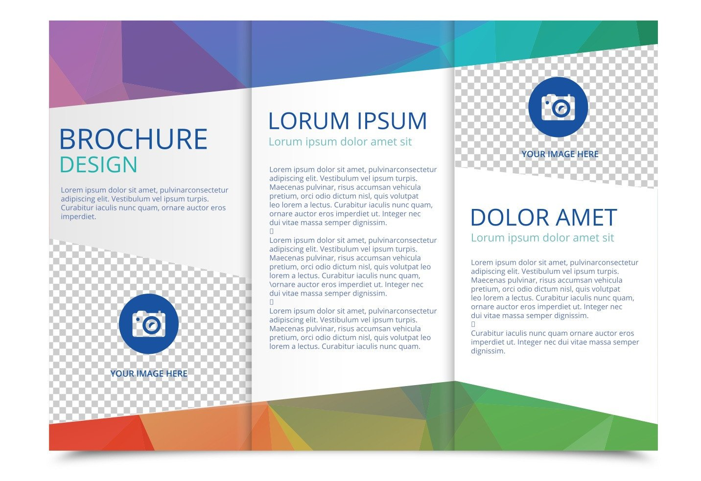 3 Fold Brochures Templates Free Tri Fold Brochure Vector Template Download Free