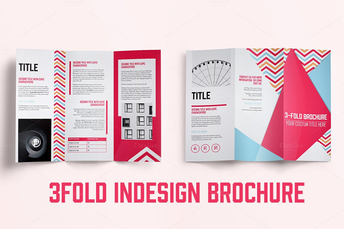 3 Fold Brochures Templates Indesign 3fold Brochure Brochure Templates On Creative