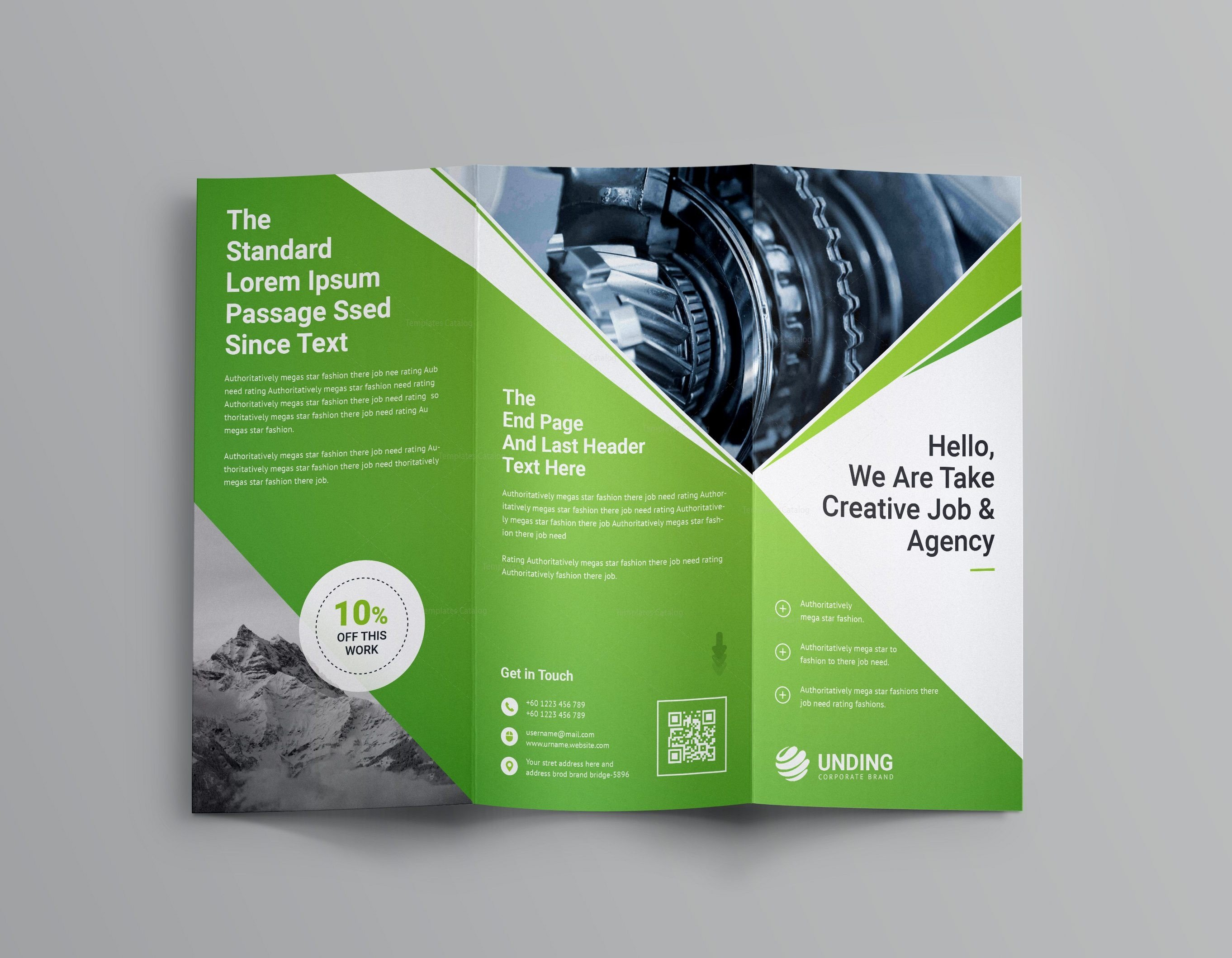3 Fold Brochures Templates Pearl Professional Tri Fold Brochure Template