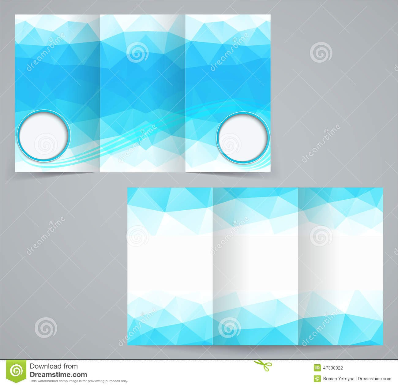 3 Fold Brochures Templates Three Fold Business Brochure Template with Triangles