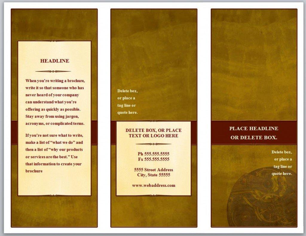 3 Fold Brochures Templates Tri Fold Brochure Template