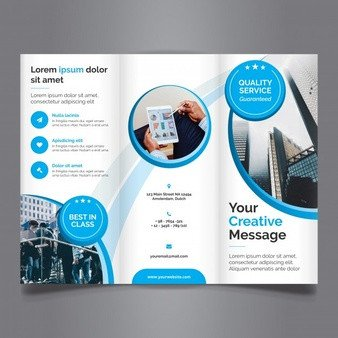 3 Fold Brochures Templates Trifold Brochure Vectors S and Psd Files