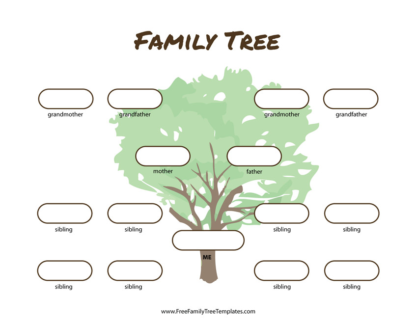 3 Generation Family Tree 3 Generation Family Tree Many Siblings Template – Free