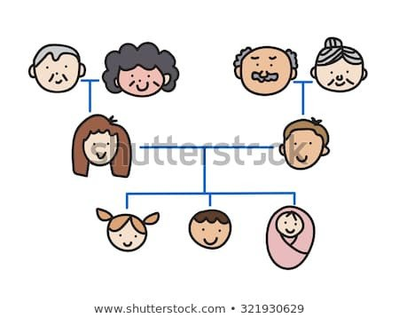 3 Generation Family Tree Family Tree Chart Stock Royalty Free