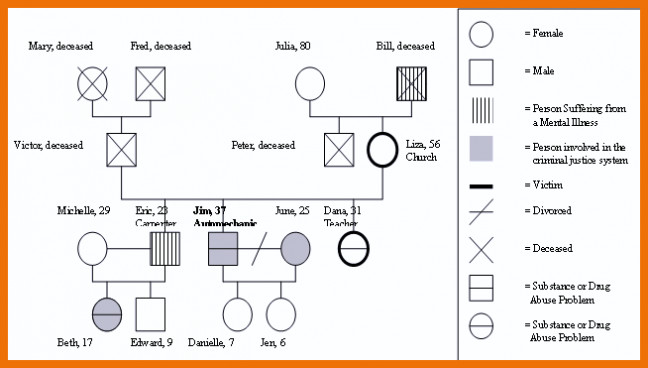 3 Generation Genogram Template Free Genogram Template Example Symbols