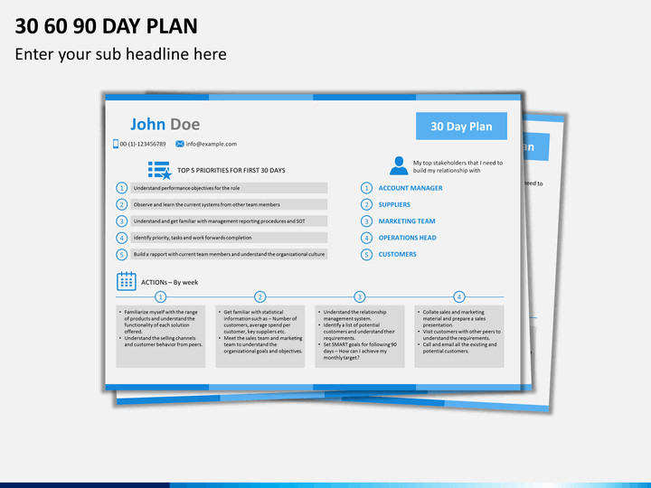 30 60 90 Day Template 30 60 90 Day Plan Powerpoint Template