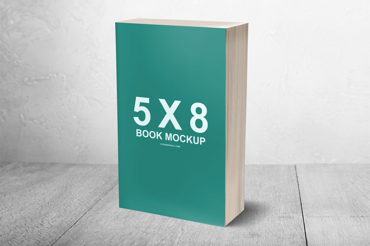 3d Book Cover Template 5 X 8 Mass Market Paperback 3d Book Mockup Covervault