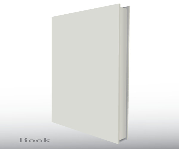 3d Book Cover Template Blank Empty 3d Book Cover Free Vector Template