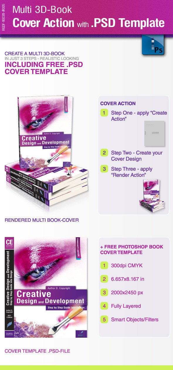 3d Book Cover Template Multi 3d Book Cover Action with Psd Template by Ricci Gdf