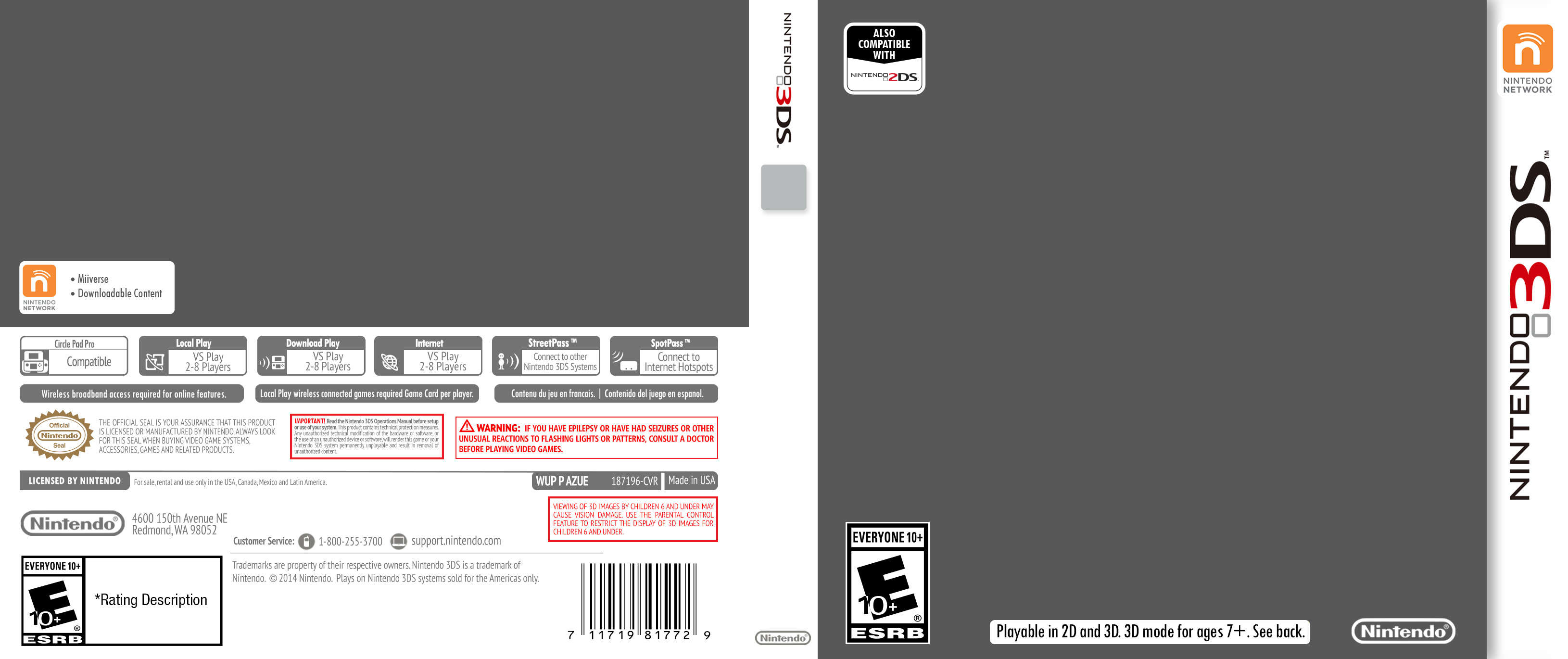 3ds Game Cover Template Nintendo 3ds Cover Template by Etschannel On Deviantart