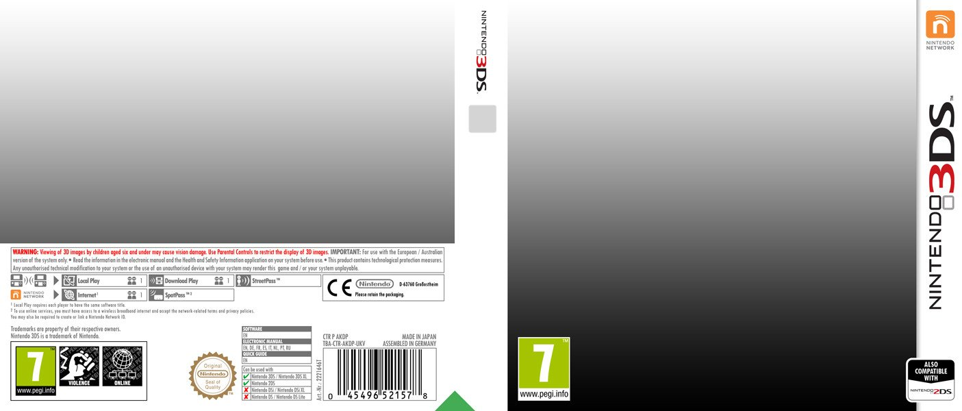3ds Game Cover Template Nintendo 3ds Template 2 0 by Casval Lem Daikun On Deviantart