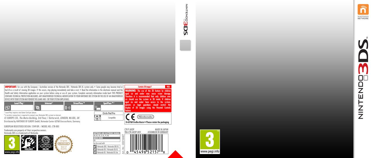 3ds Game Cover Template Nintendo 3ds Template by Casval Lem Daikun On Deviantart