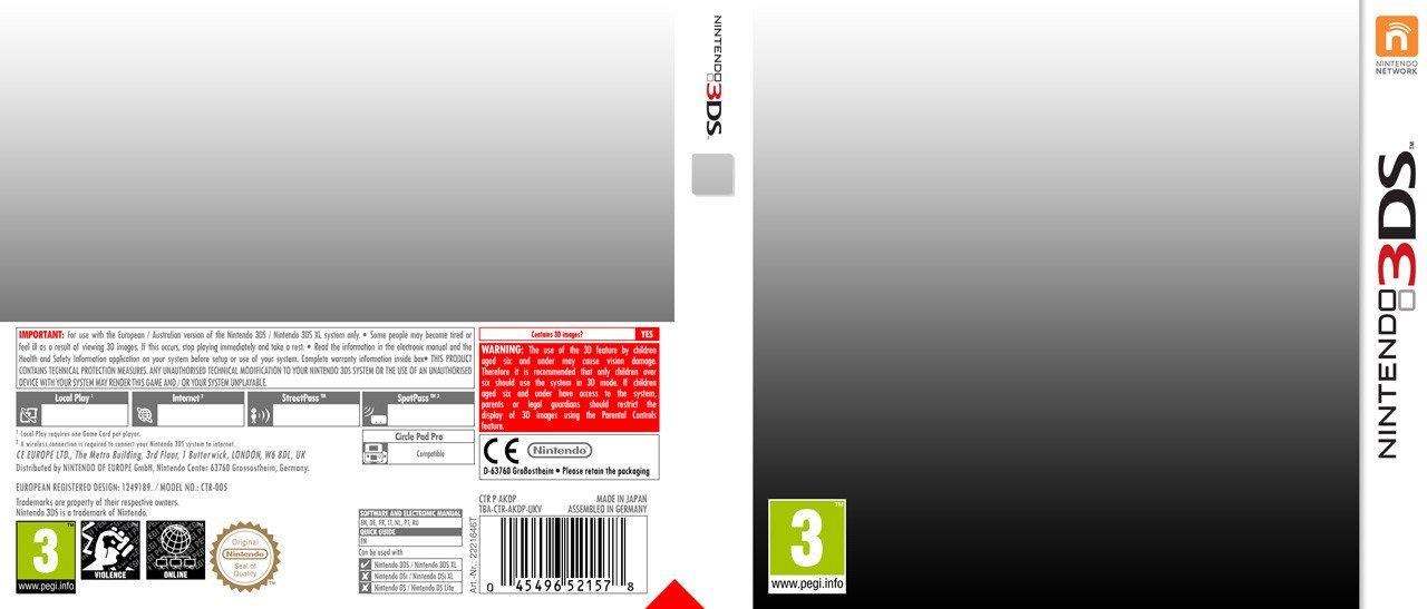 3ds Game Cover Template Nintendo 3ds Template by Casval Lem Daikun On Deviantart