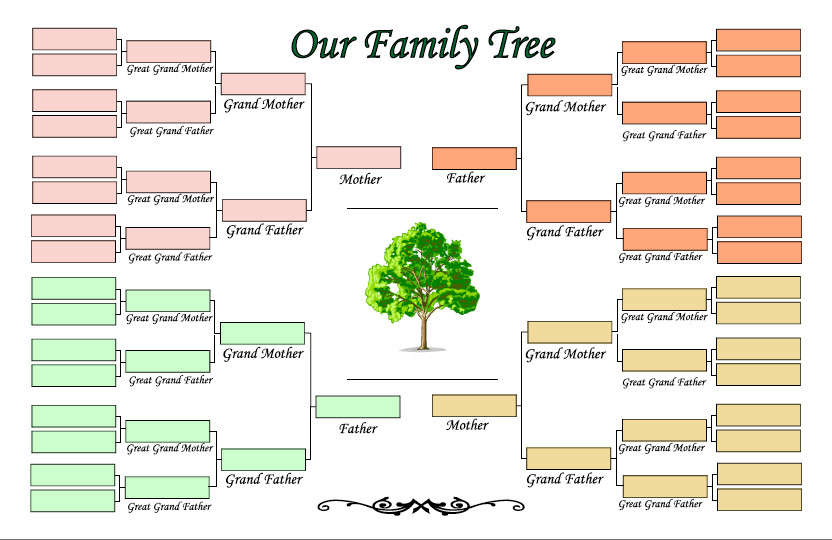4 Generation Family Tree 4 Generation Family Tree Template Ldf1cblj