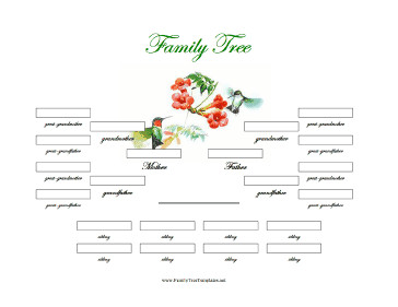 4 Generation Family Tree 4 Generation Family Tree with Siblings Template