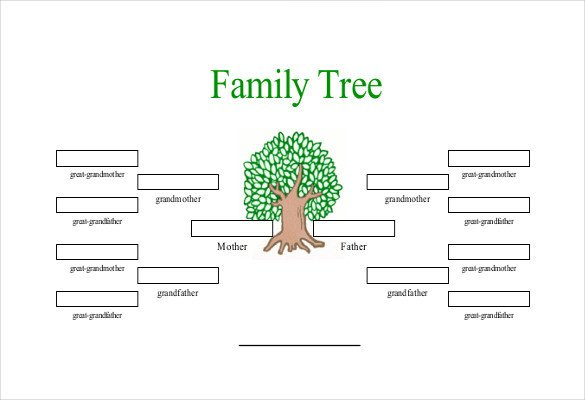 4 Generation Family Tree Simple Family Tree Template 25 Free Word Excel Pdf