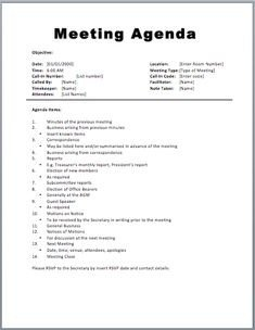 4 H Meeting Minutes Template attractive Meeting Agendas