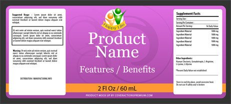 4 Oz Bottle Label Template 2 Oz Round Glass Bottle with Spray Mock Up