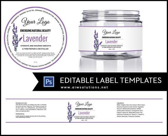 4 Oz Bottle Label Template 2oz Jar Label 4oz Label 8oz Label Template Skin Care Label