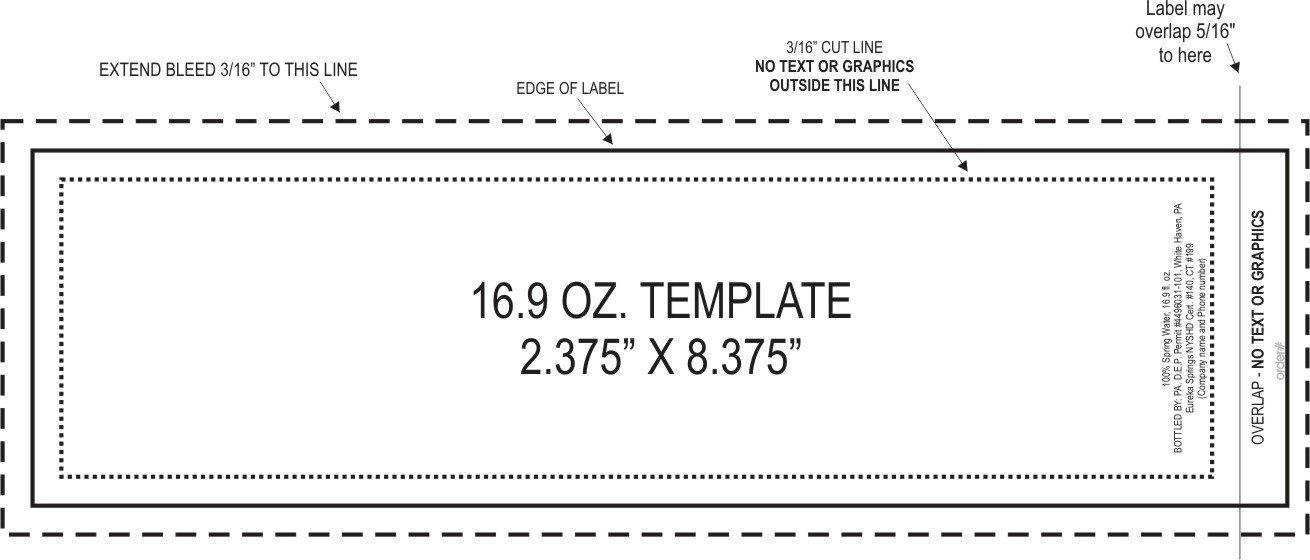 4 Oz Bottle Label Template 4 Oz Bottle Label Template