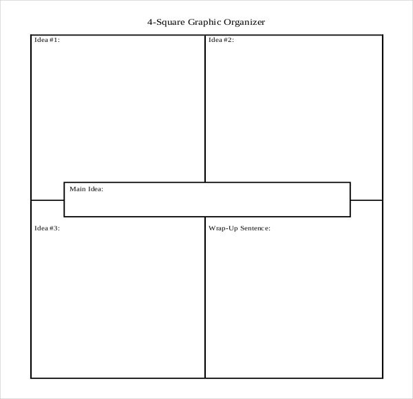 4 Square Writing Template 12 Four Square Writing Templates – Free Sample Example