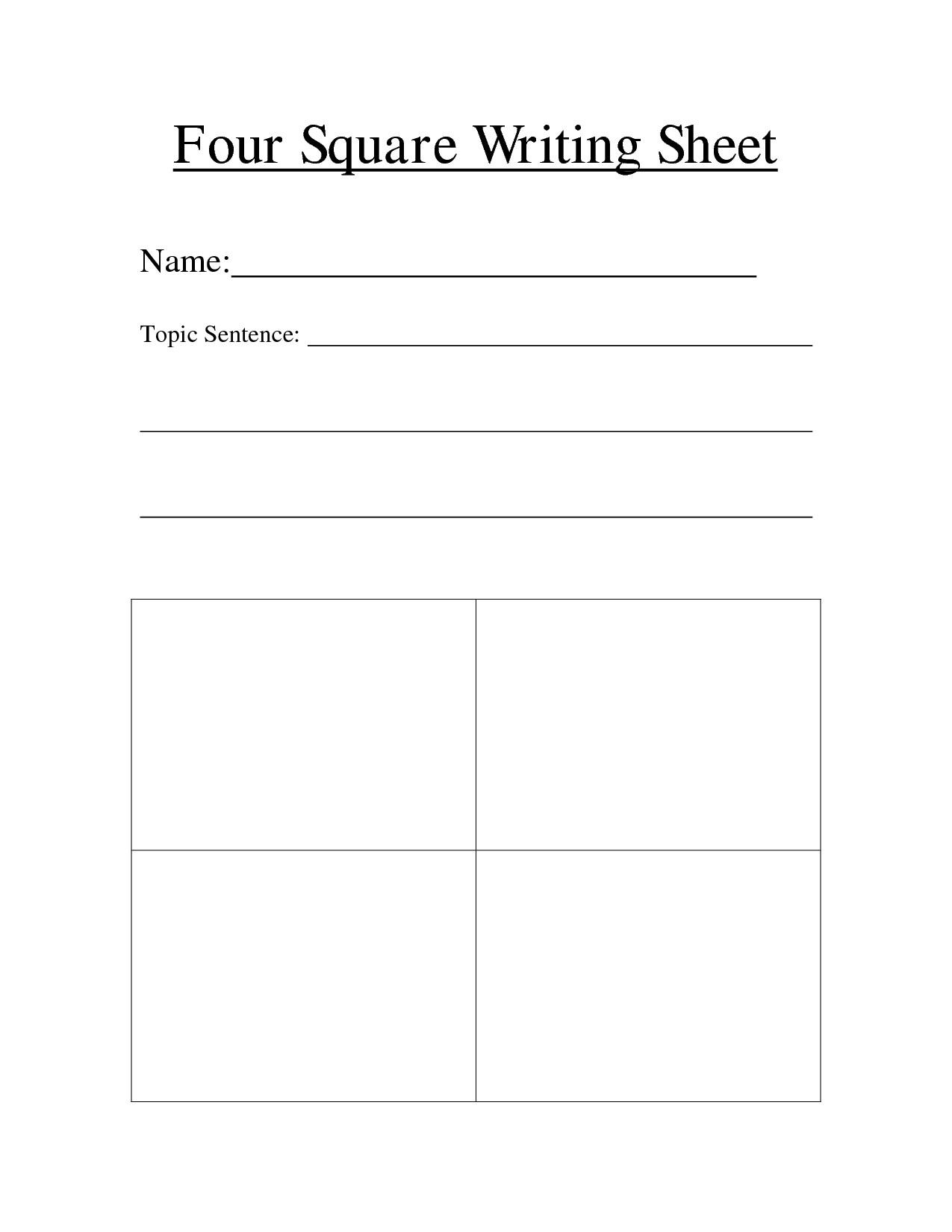 4 Square Writing Template 16 Best Of Current events Lesson Worksheet