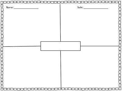 4 Square Writing Template 4 Square Writing Freebie Kickin It In Kindergarten