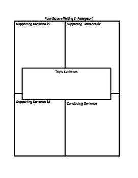 4 Square Writing Template 4 Square Writing Template by Writers Paradise