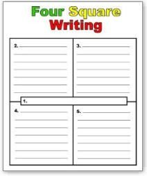 4 Square Writing Template Four Square Writing Method On Pinterest