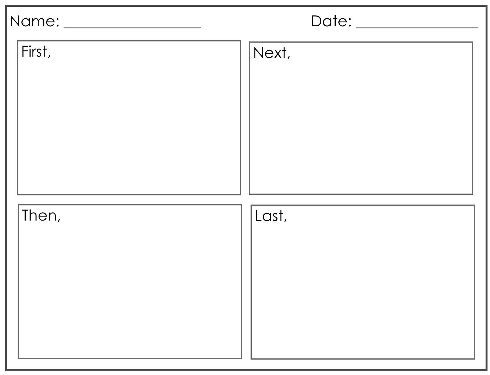 4 Square Writing Template Four Square Writing Template Printable