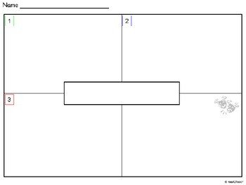 4 Square Writing Template Pre Writing organizer 4square by Heart2teach