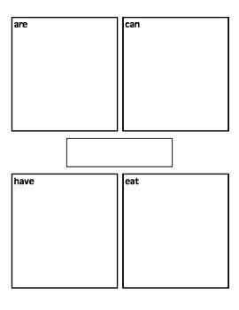 4 Square Writing Template Writing Animal Research Four Square Template by Karen