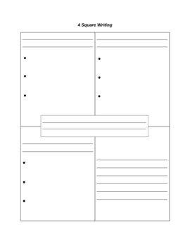 4 Square Writing Templates 4 Square Writing Template by Paula Jett