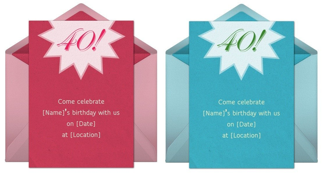 40th Birthday Invitation Wording 40th Birthday Invitation