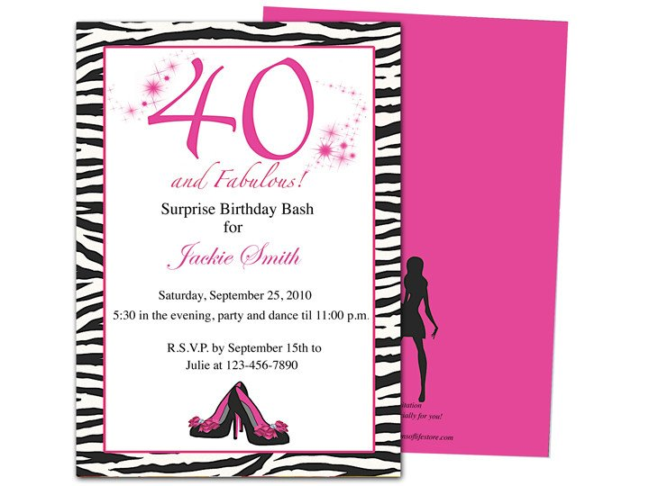 40th Birthday Invitation Wording 40th Birthday Party Invitations Wording