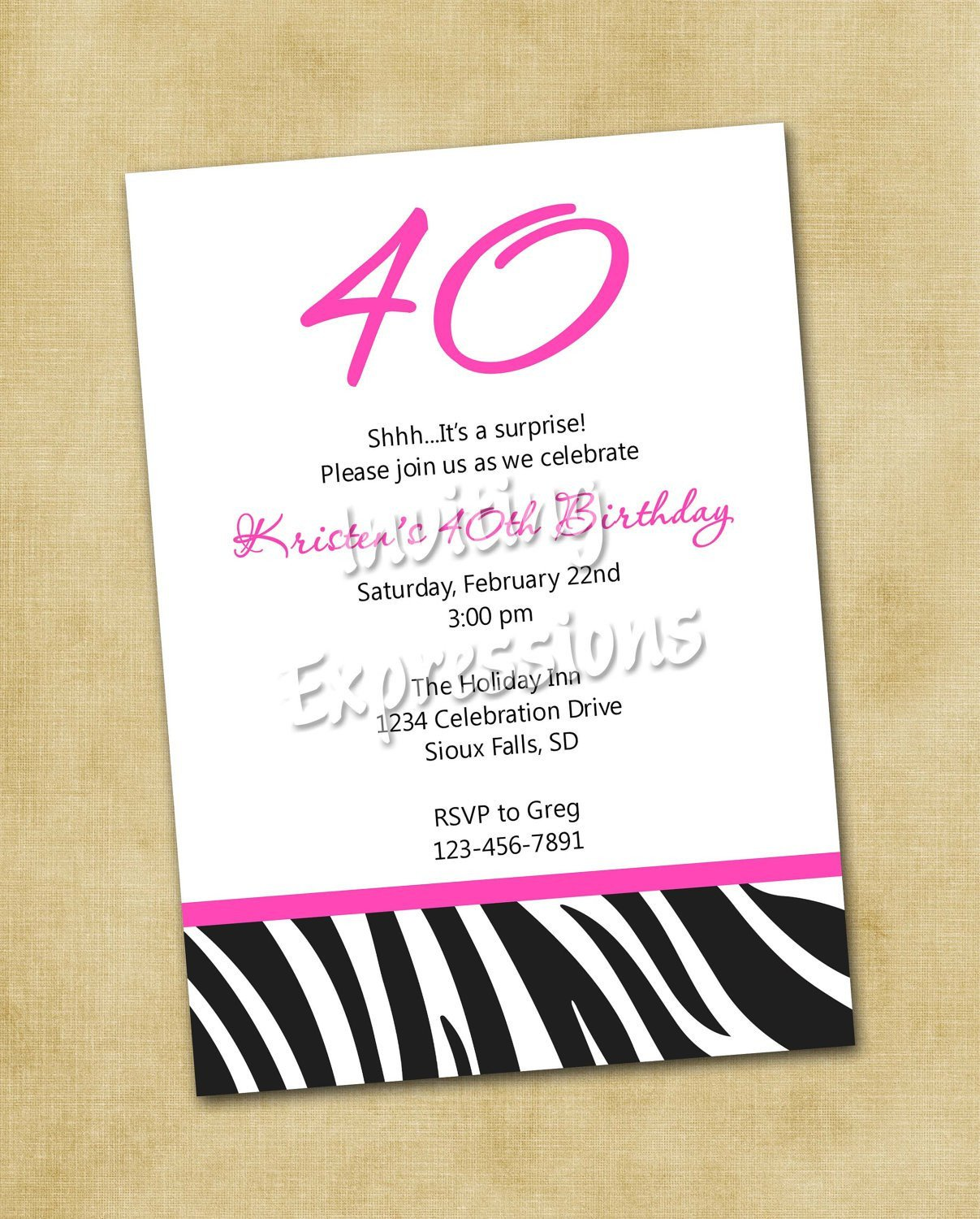 40th Birthday Invitation Wording Surprise 40th Birthday Invitation Wording Samples