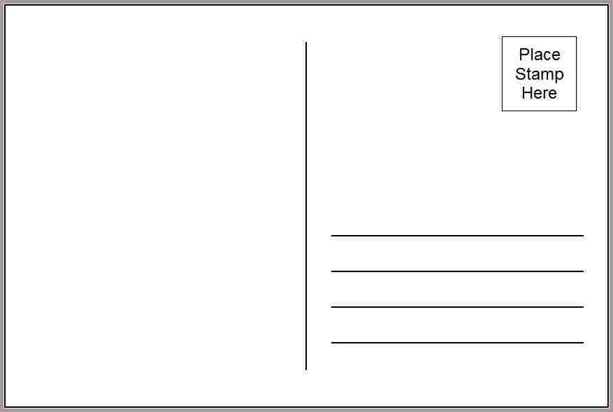 4x6 Postcard Template Word 4x6 Postcard Template