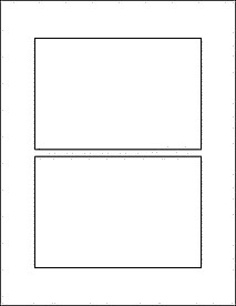 "4x6 Postcard Template Word 6"" X 4"" Index Card Size Labels Standard White Matte"