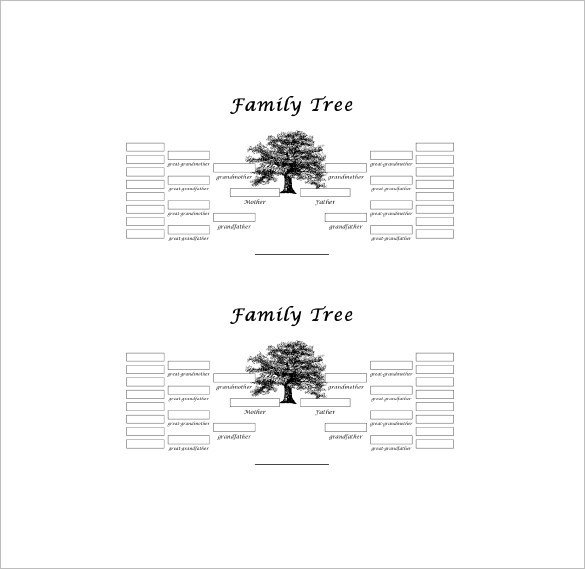 5 Generation Family Tree Five Generation Family Tree Template – 11 Free Word