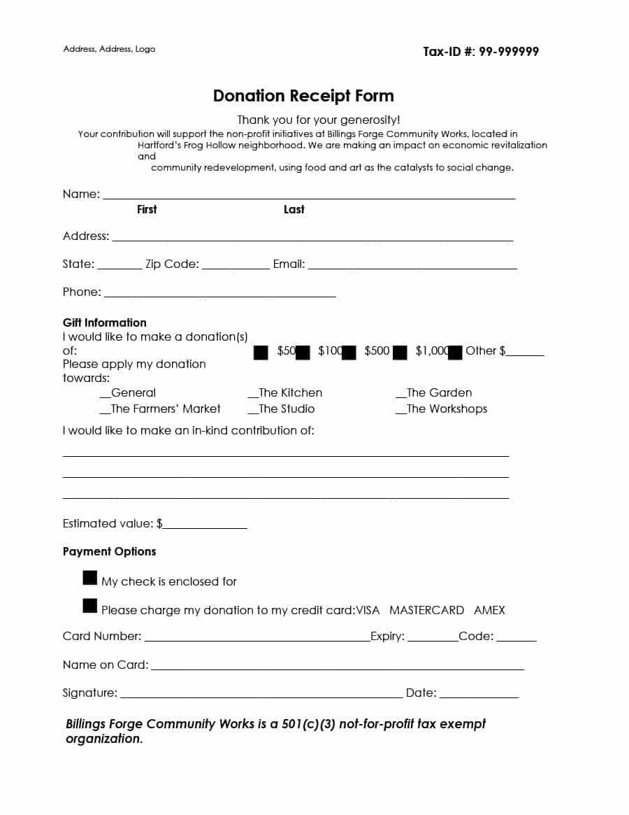 501c3 Donation Receipt 40 Donation Receipt Templates & Letters [goodwill Non Profit]