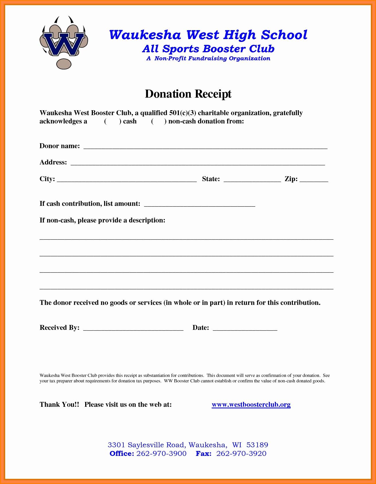 501c3 Donation Receipt 5 501c3 Donation Receipt